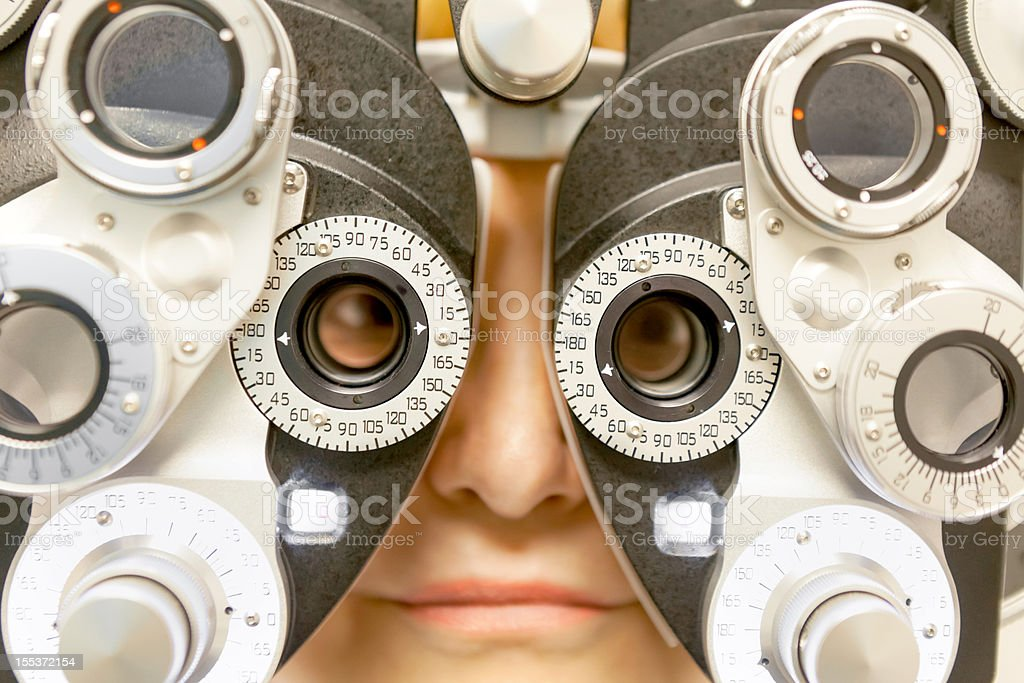 Medical: Eye Exam royalty-free stock photo