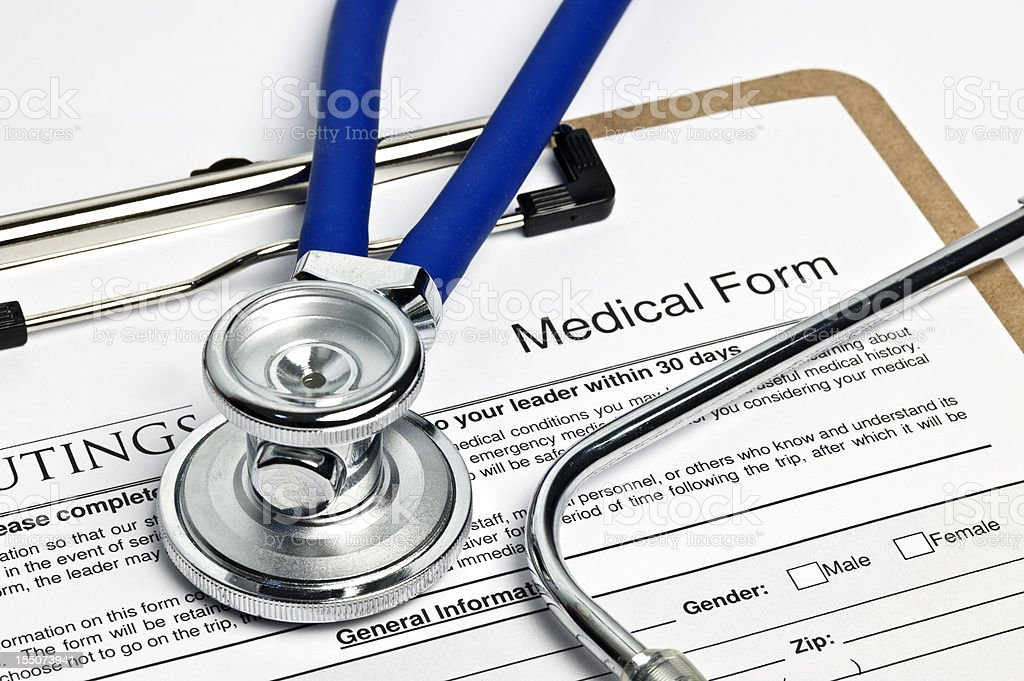 Medical Form royalty-free stock photo