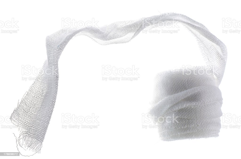 Medical gauze stock photo