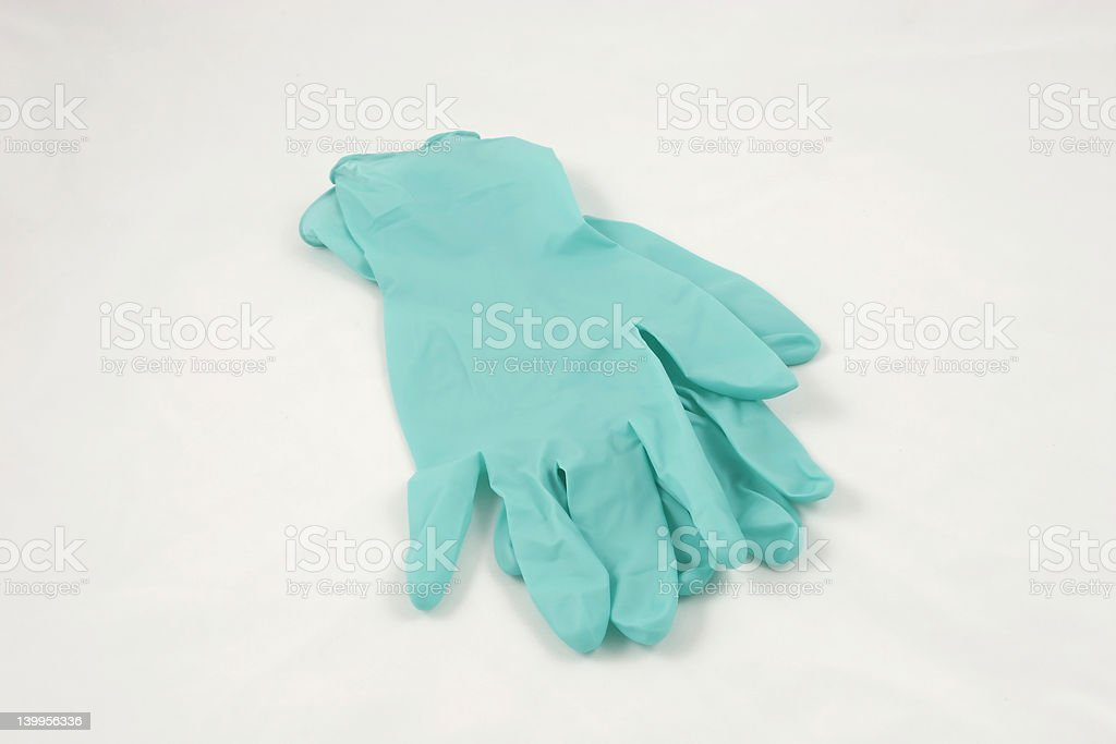 medical gloves stock photo