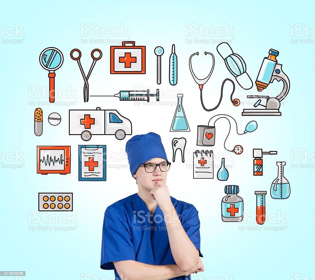 Medical help stock photo