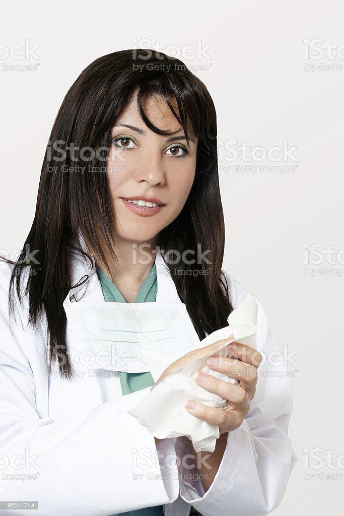 Medical hygiene doctor or nurse royalty-free stock photo