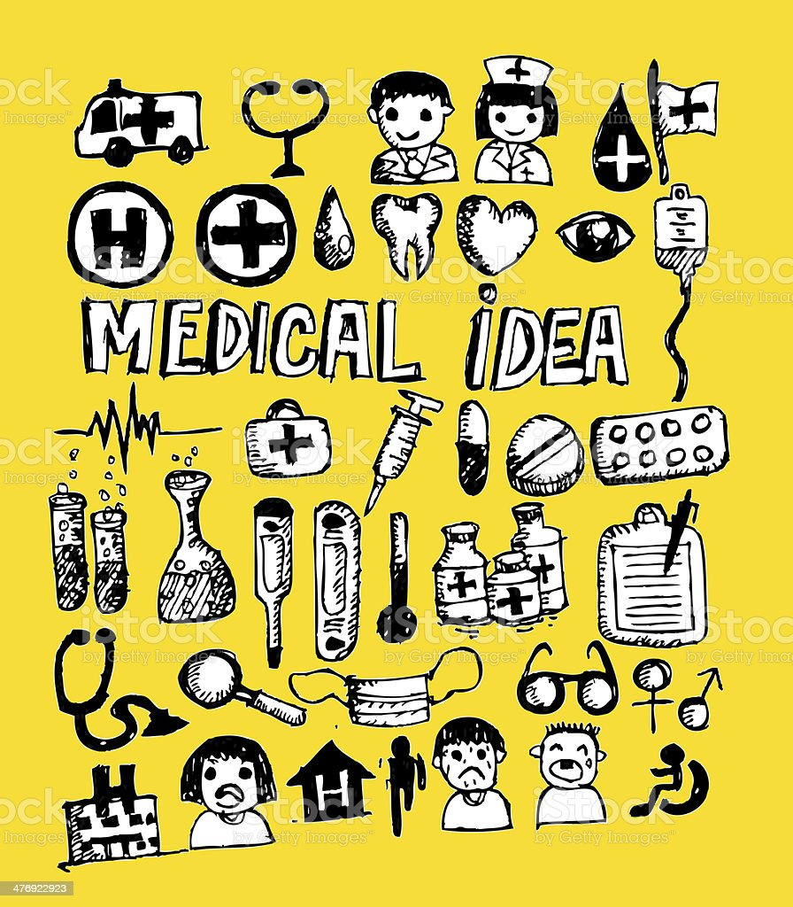 medical icons and symbol royalty-free stock photo