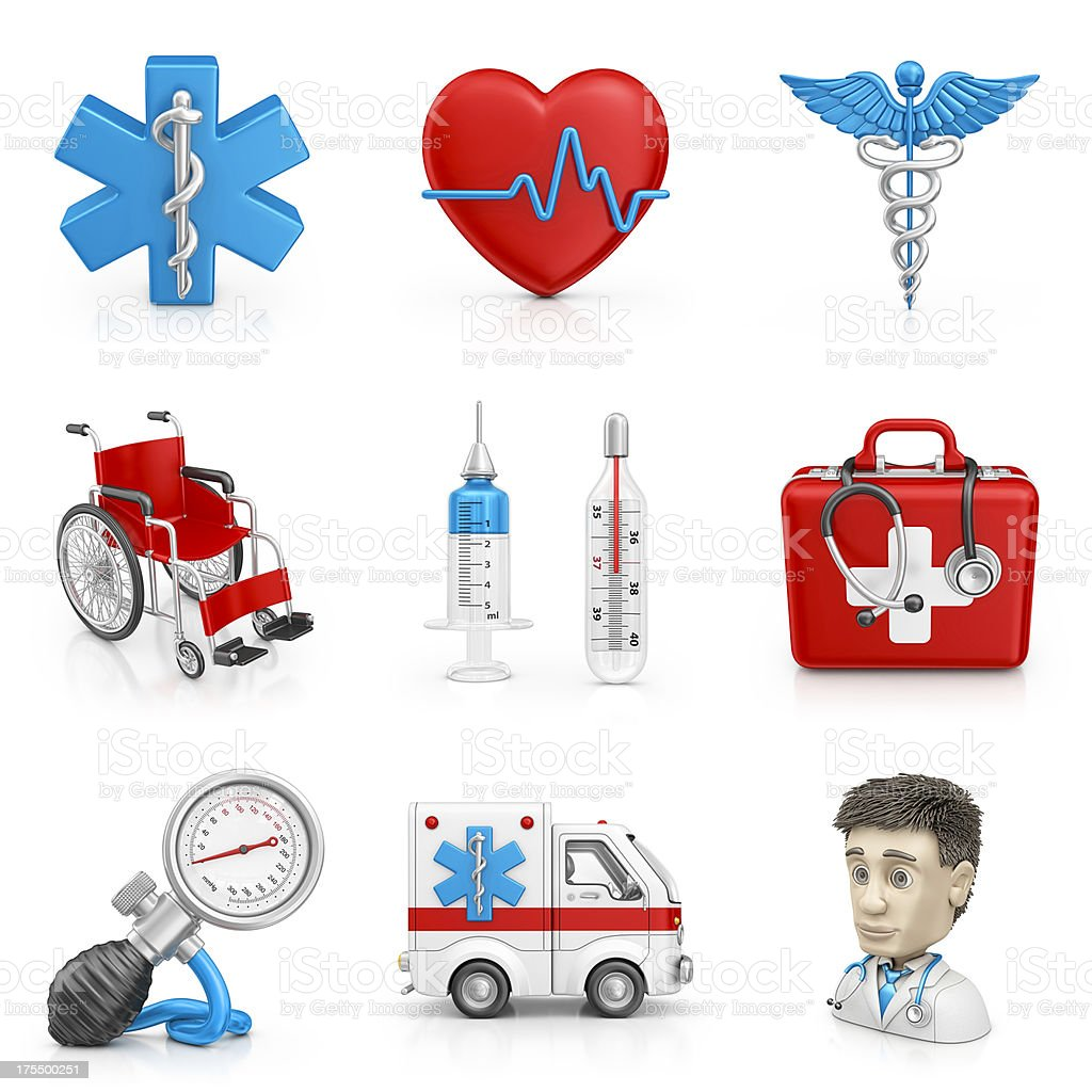medical icons royalty-free stock photo
