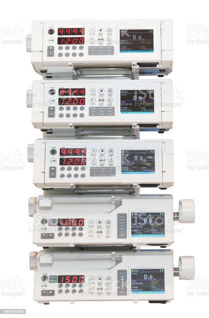 medical infusion pump - isolated stock photo