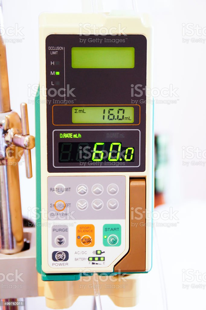 Medical Infusion Pump / IV Machine stock photo