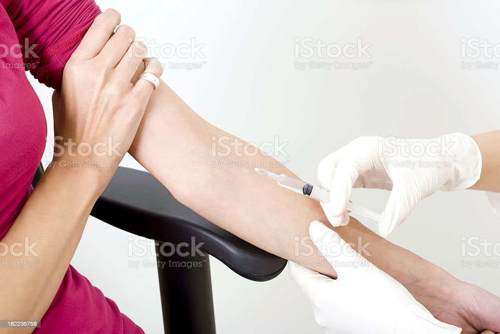 Medical injection royalty-free stock photo