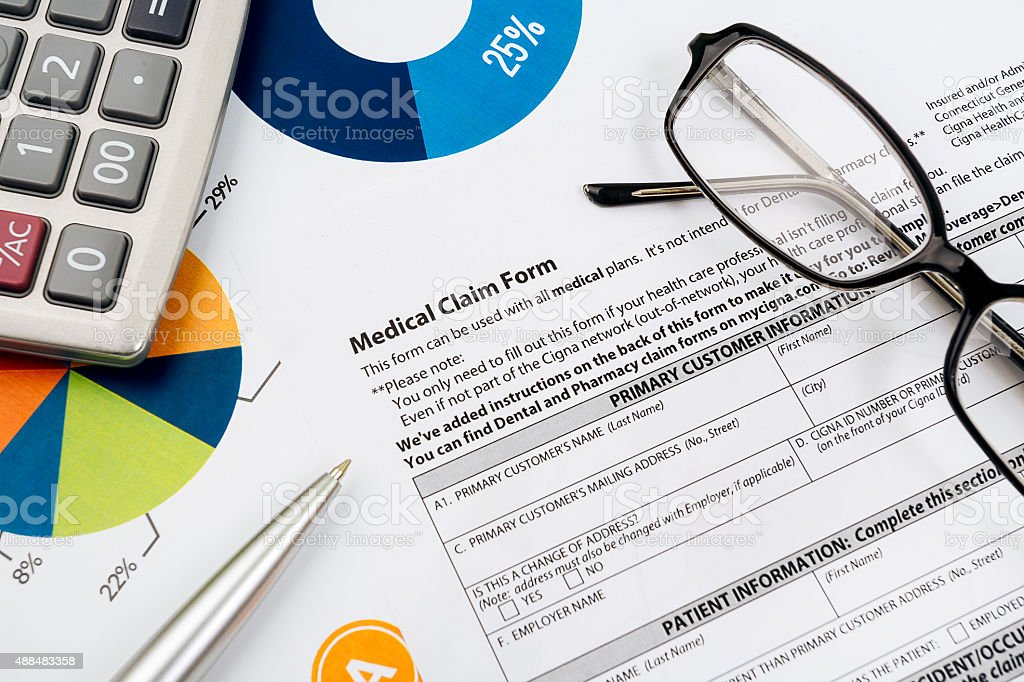 Medical insurance form stock photo