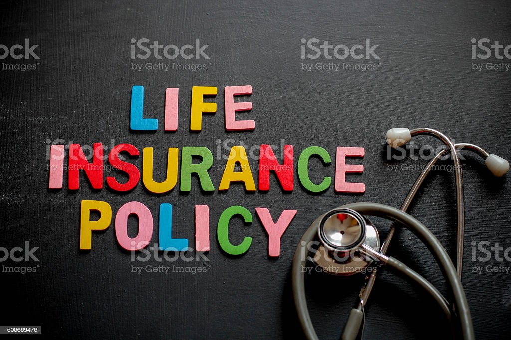 Medical insurance policy concept stock photo