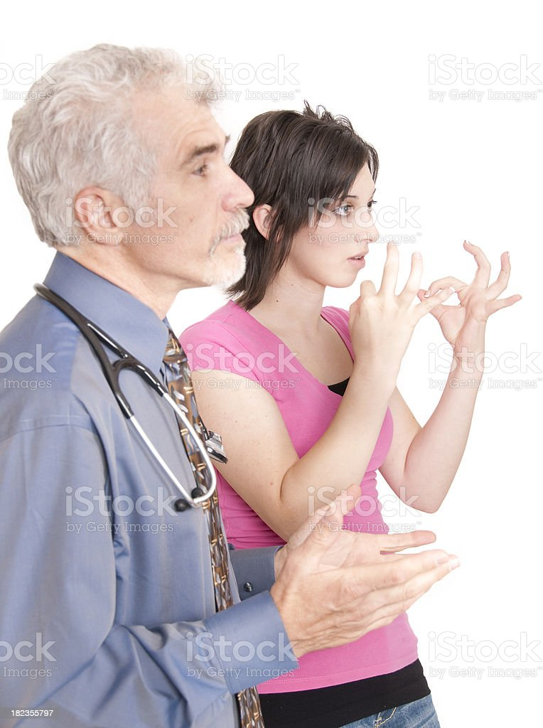 ASL Medical Interpreter royalty-free stock photo
