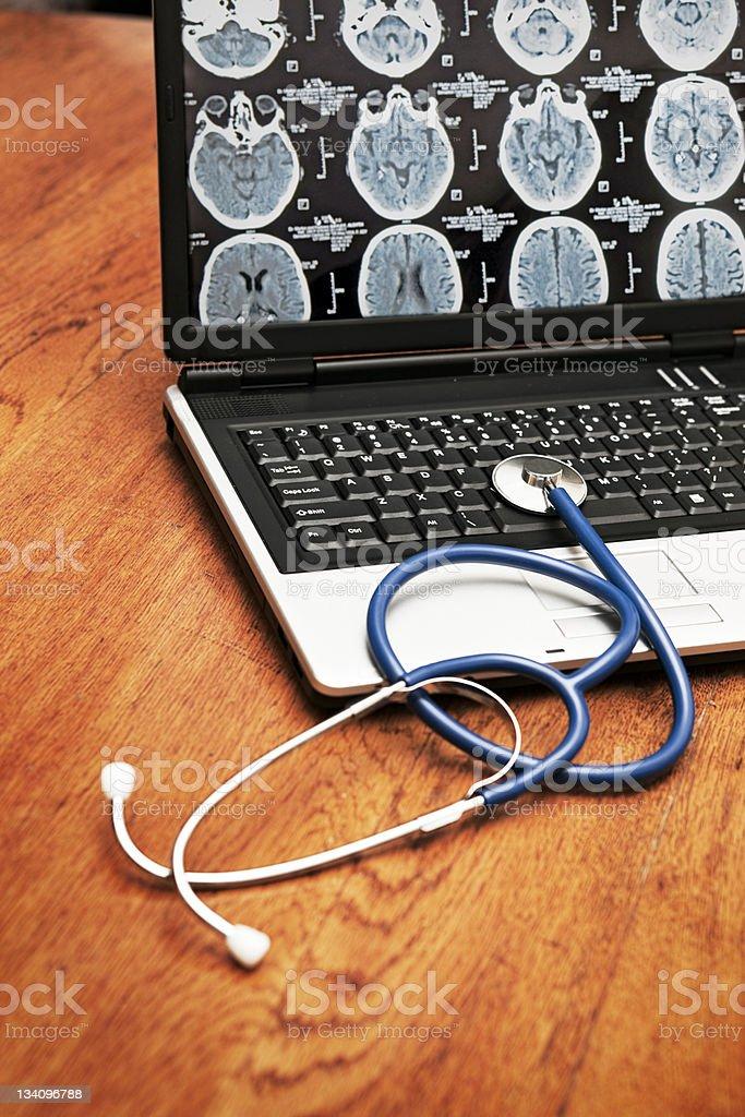 Medical laptop royalty-free stock photo