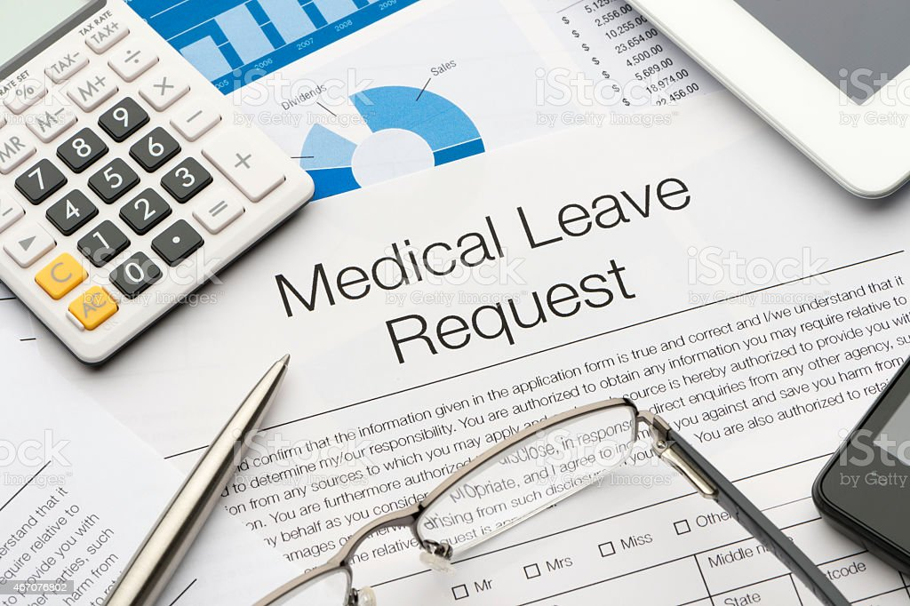 Medical Leave Request Form On A Desk Stock Photo   Istock