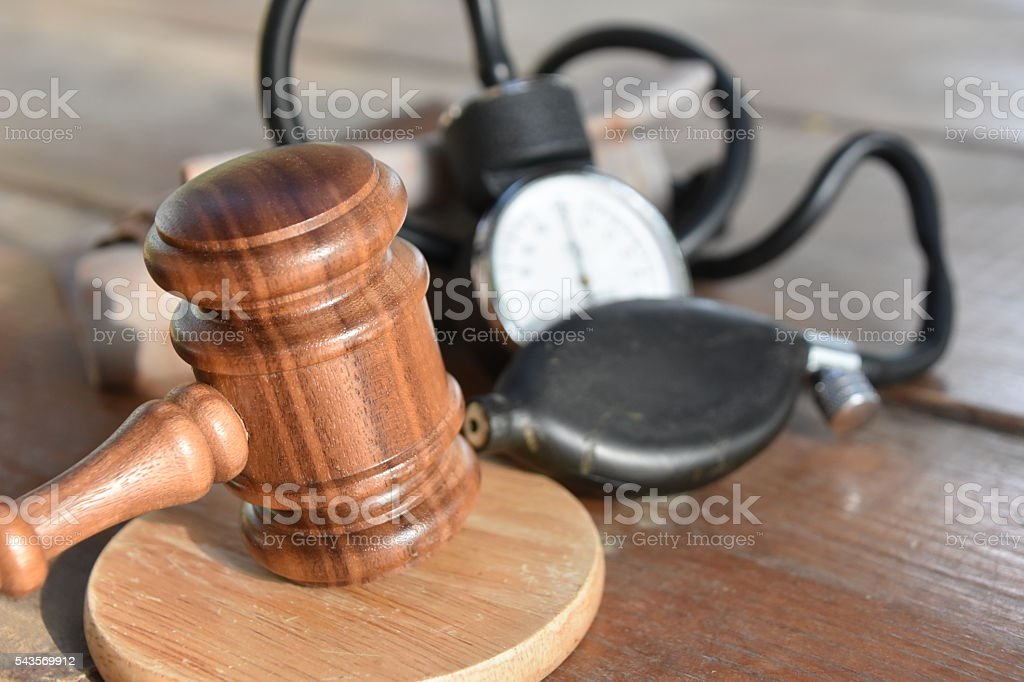 Medical malpractice Concept stock photo