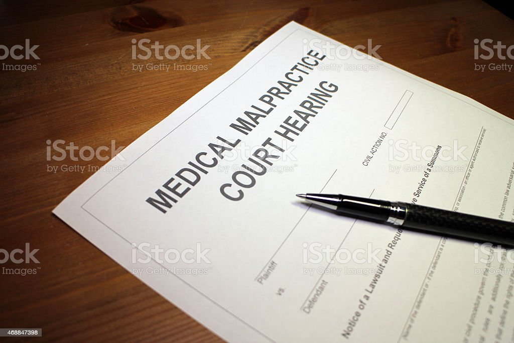 Medical Malpractice Court Hearing stock photo