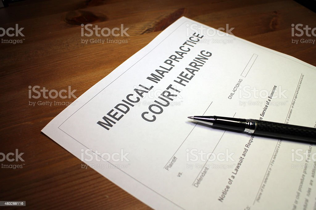 Medical Malpractice Court Hearing stock photo