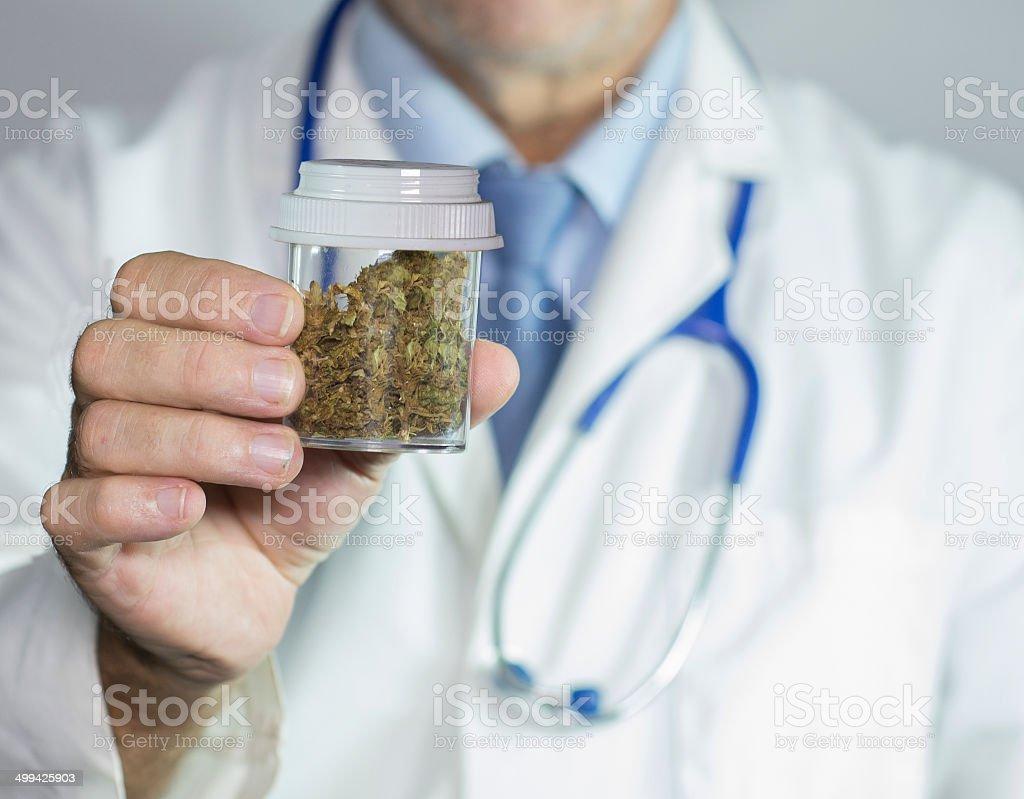 Medical marijuana from the Doctor stock photo