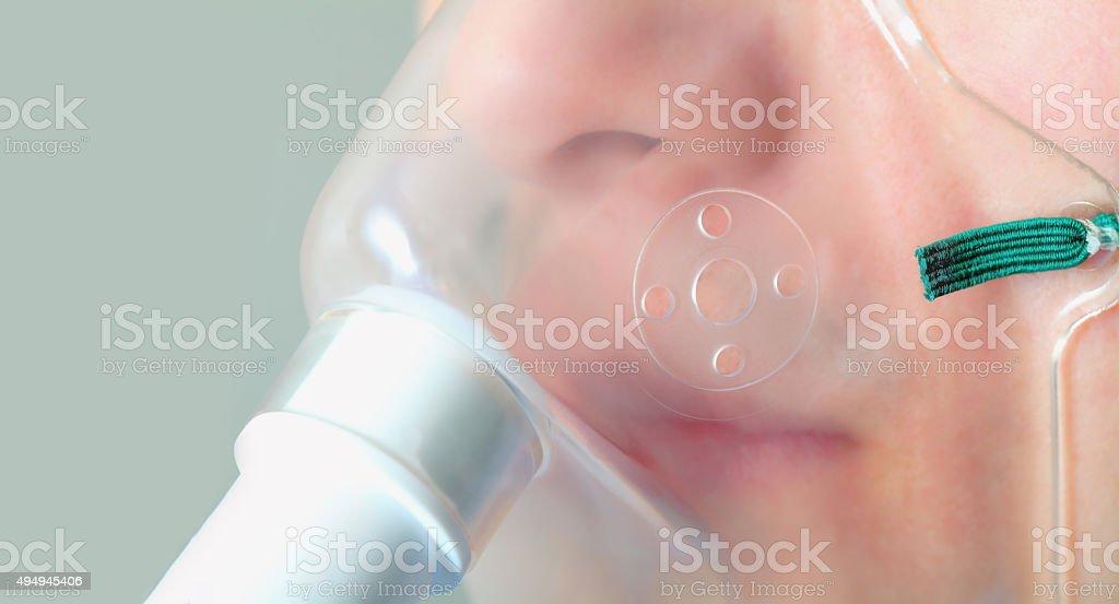 Medical mask. Close -up photo stock photo