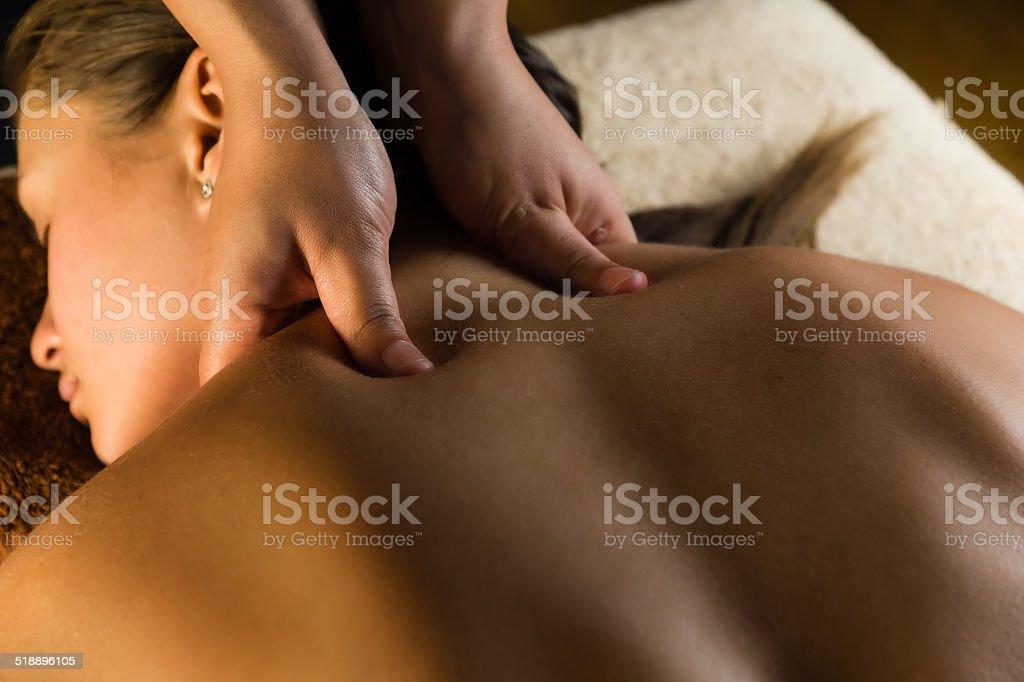 Medical massage stock photo