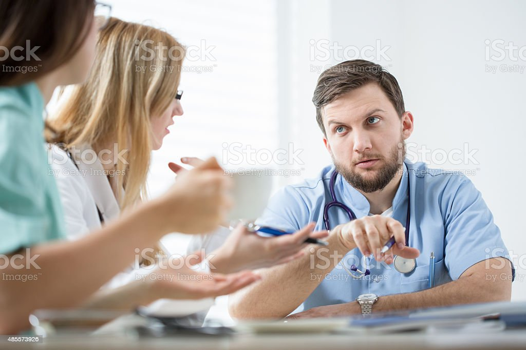 Medical meeting stock photo