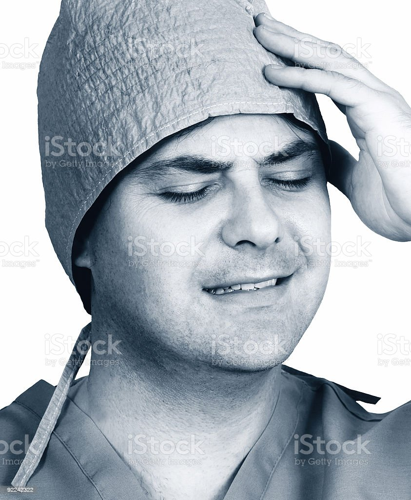 Medical mishap stress or malpractice royalty-free stock photo