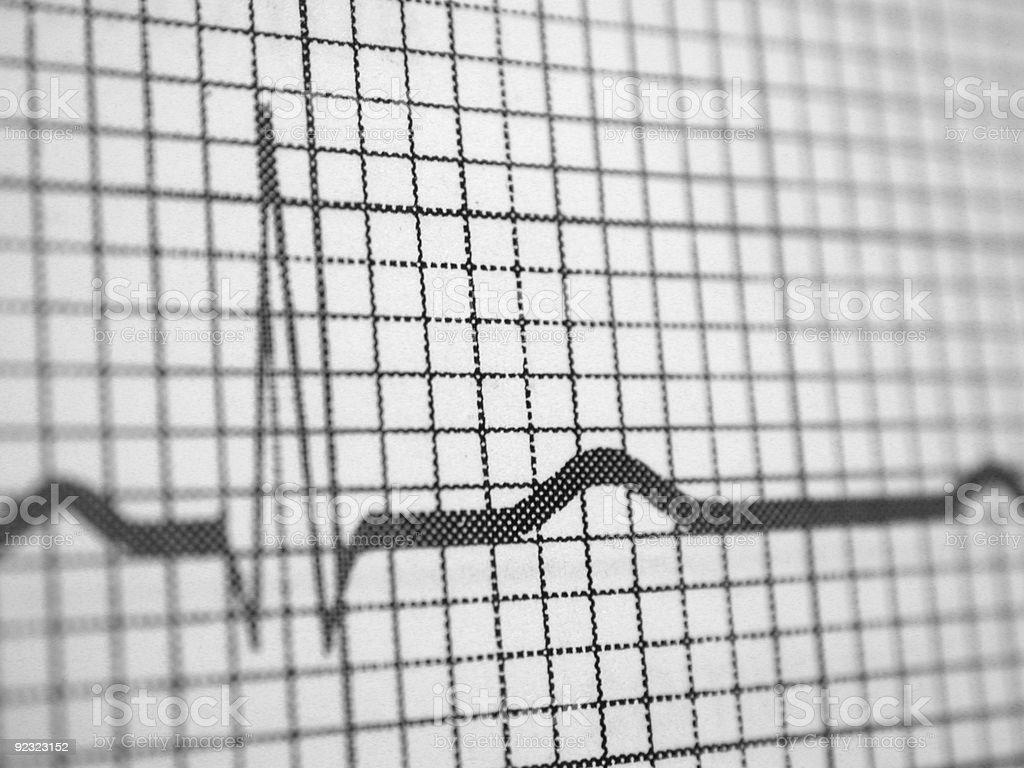 Medical Monitor Reading royalty-free stock photo