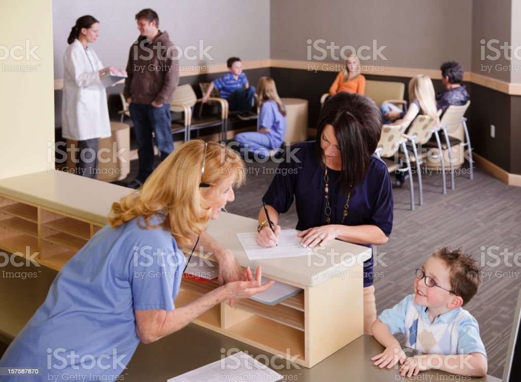 Medical Office Reception Area stock photo