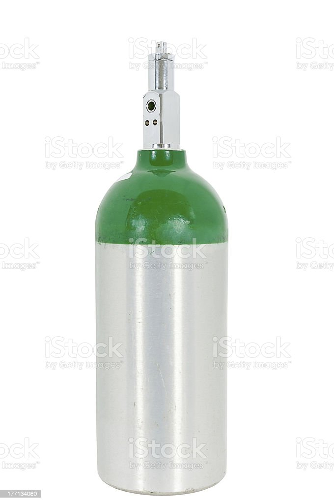 Medical Oxygen Cylinder stock photo