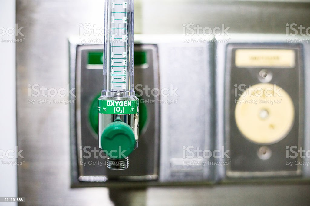 medical oxygen tube in hospital stock photo
