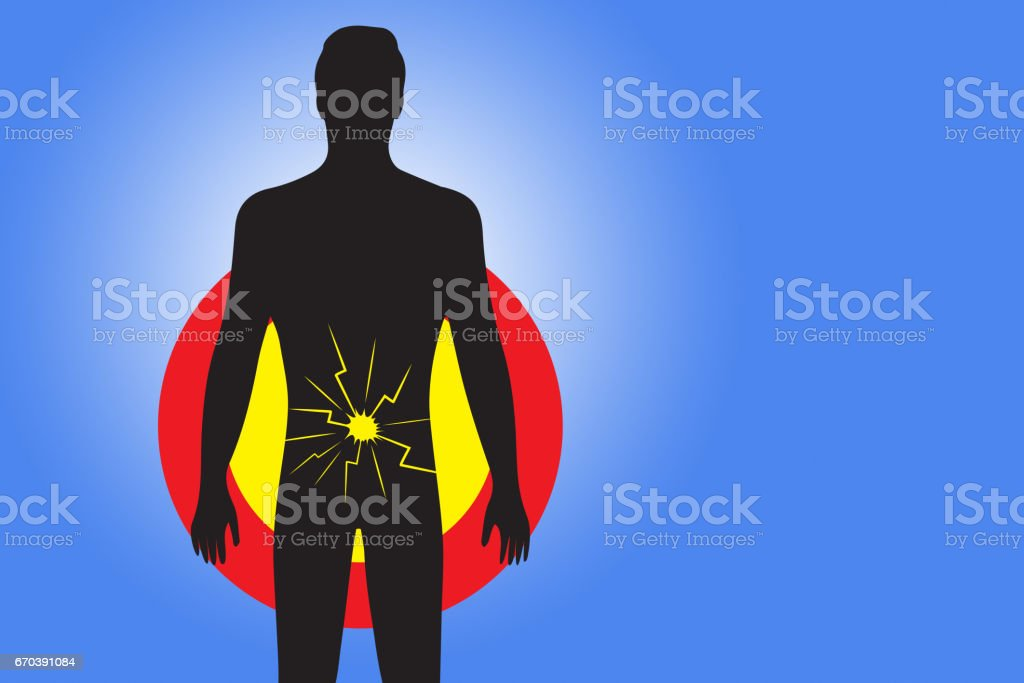 Medical Pain Concept - indigestion stock photo
