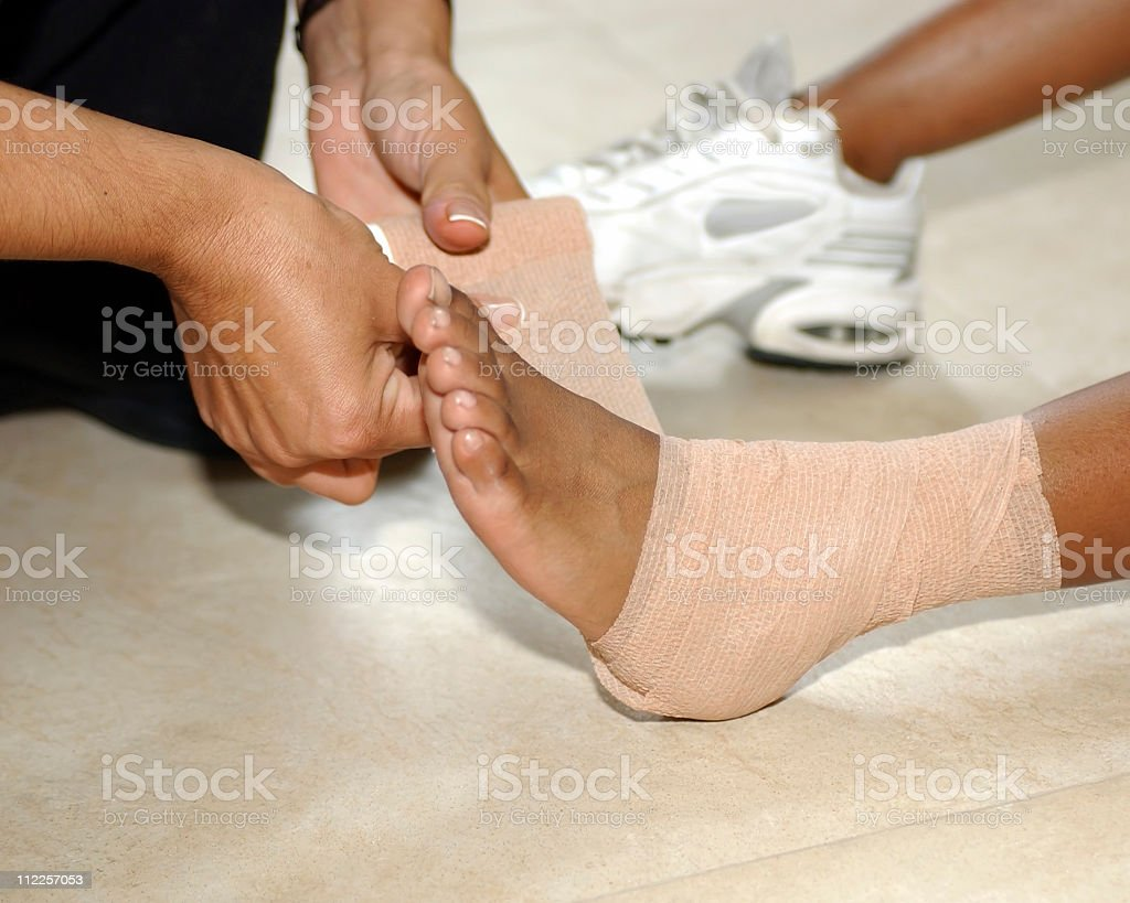 Medical: Pains and sprains royalty-free stock photo