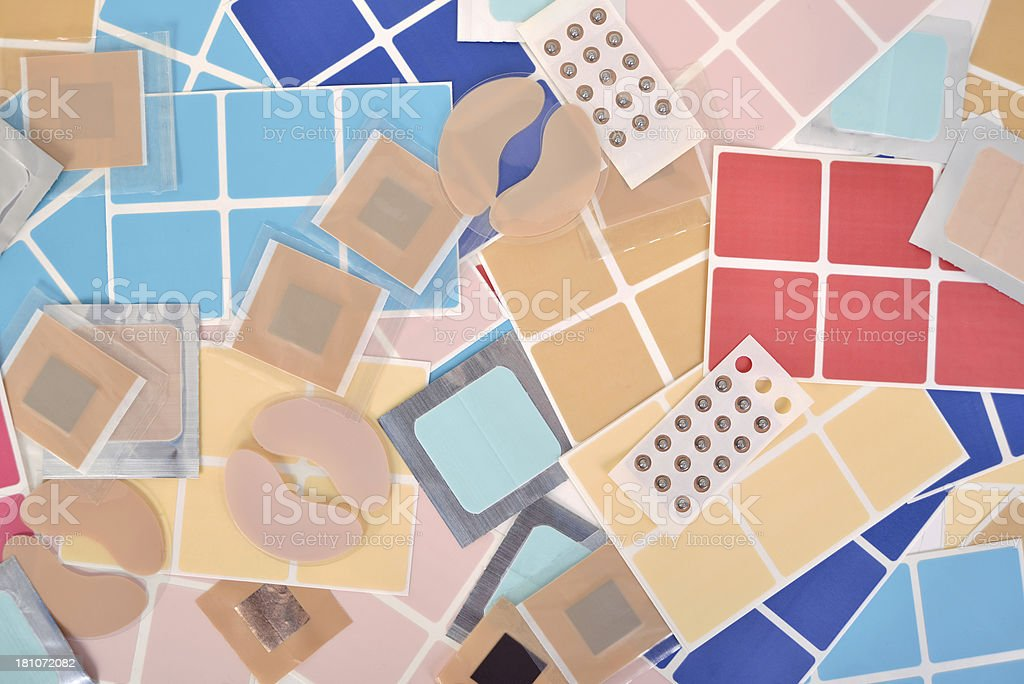 medical patches stock photo