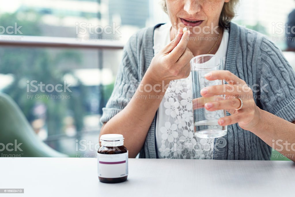 Medical Patient Drug Care Concept stock photo