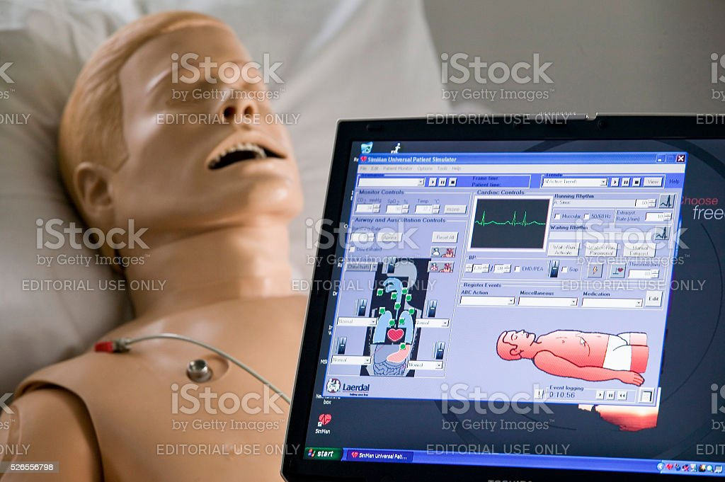 Medical Patient Simulator and Dummy stock photo