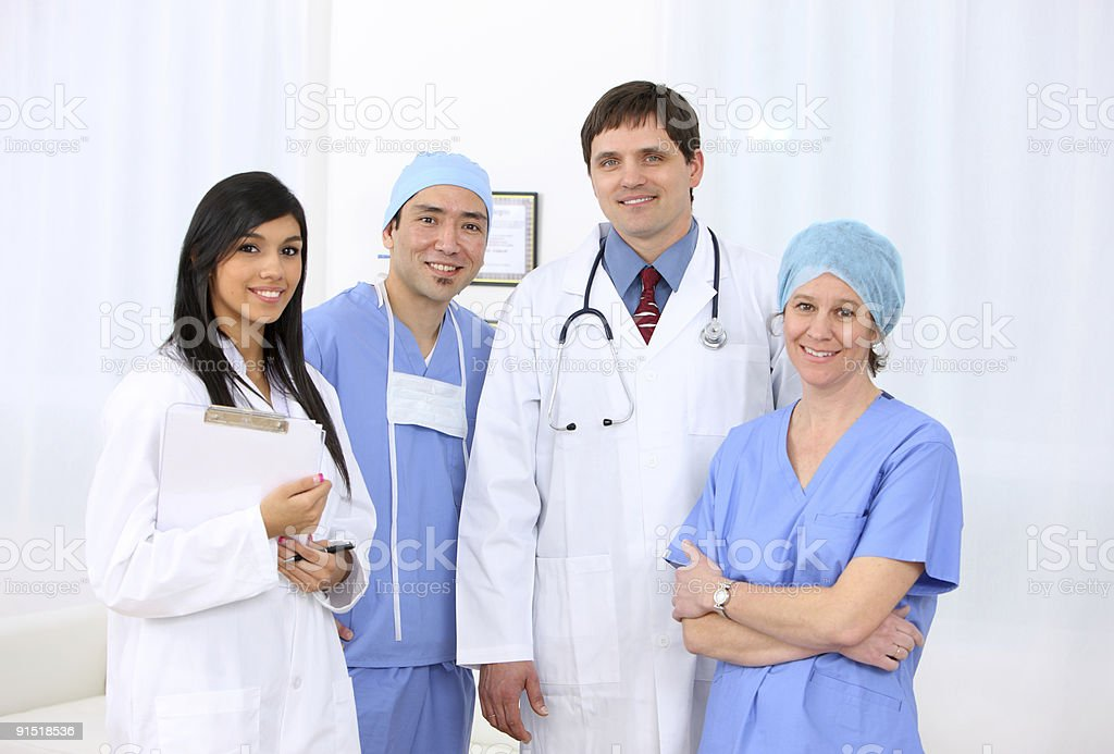 Medical personnel group portrait royalty-free stock photo