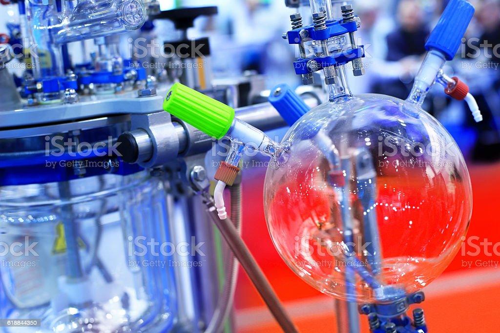 Medical pharmacology laboratory stock photo