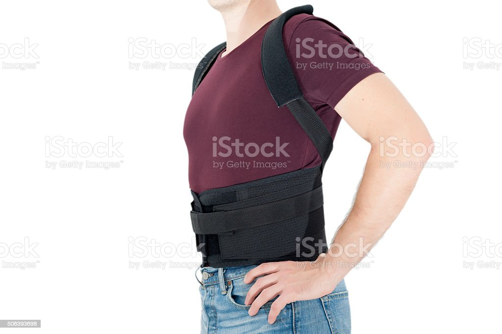 Medical posture bandage stock photo