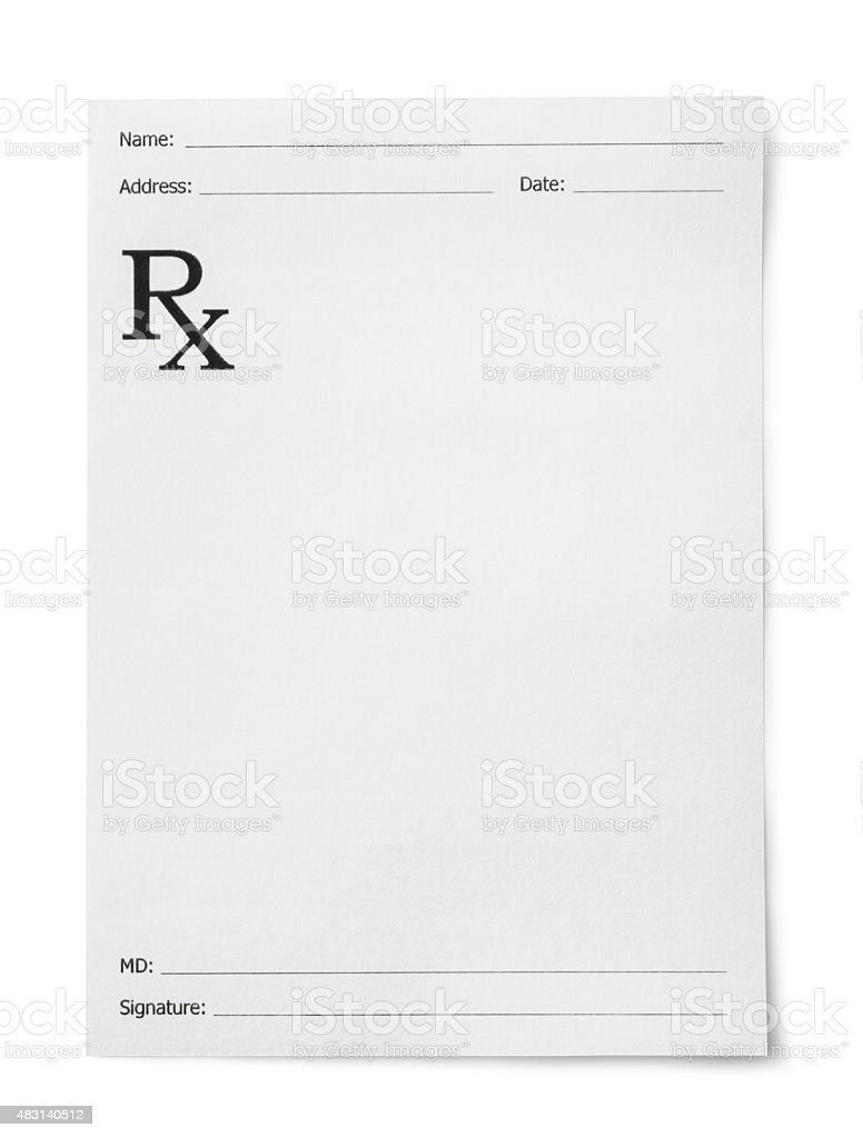 Medical prescription stock photo