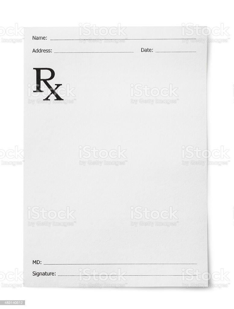 Medical prescription stock photo