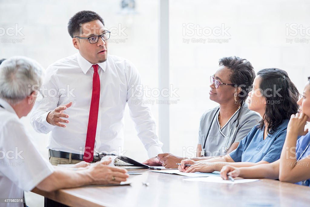 Medical Professional Business Meeting stock photo