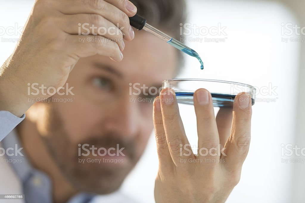 Medical Professional Carrying Out Test In Laboratory royalty-free stock photo