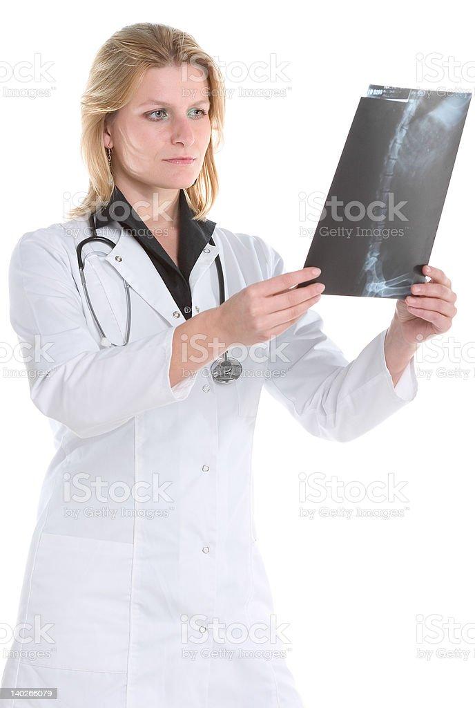 Medical professional diagnosing xray royalty-free stock photo