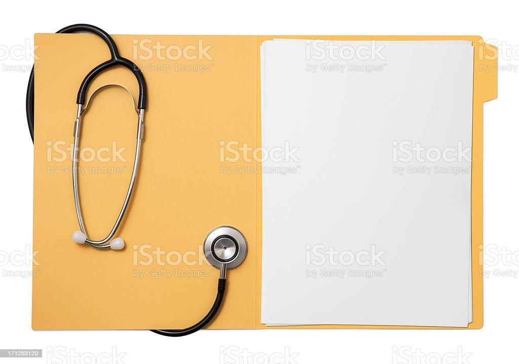Medical record royalty-free stock photo
