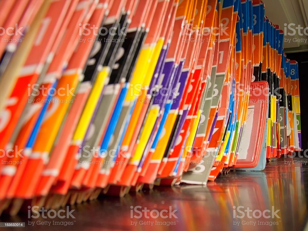 Medical Records folders. stock photo