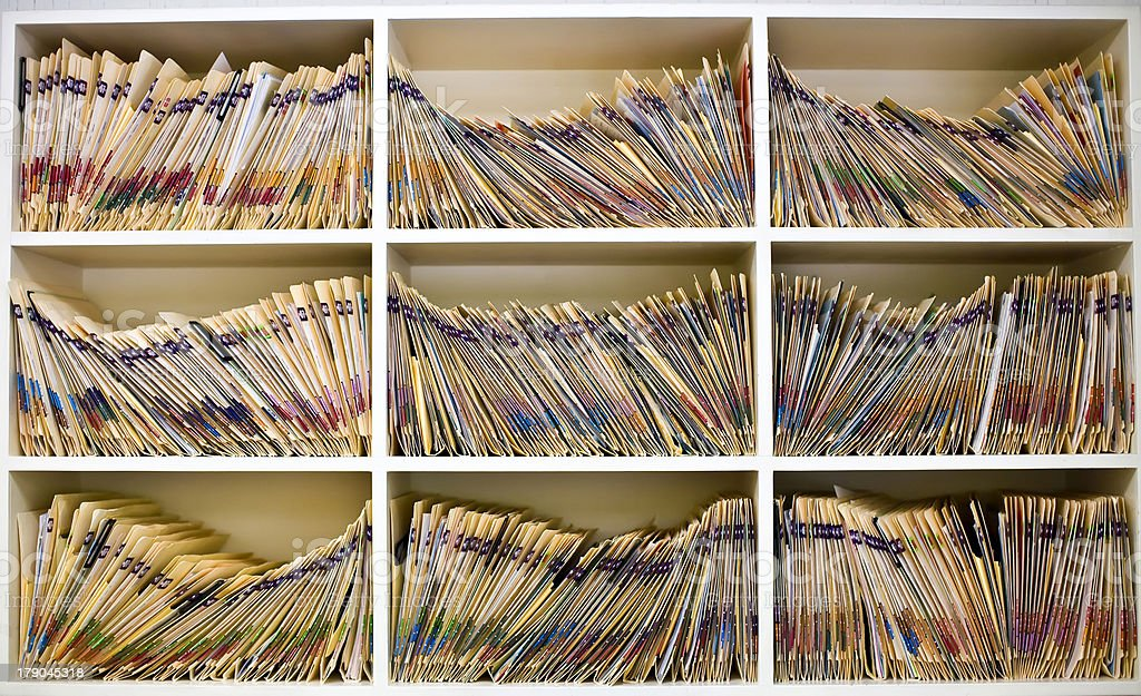 Medical Records Folders stock photo