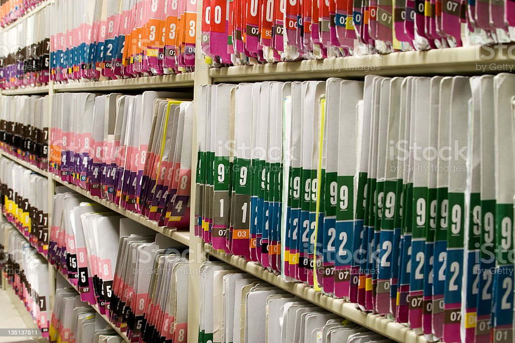 Medical Records - Patient Charts royalty-free stock photo