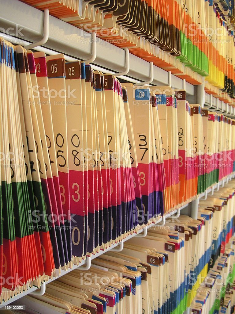 Medical Records stock photo