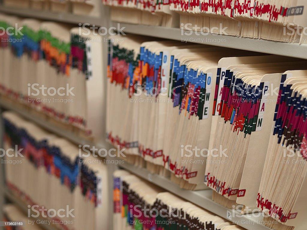 Medical records royalty-free stock photo