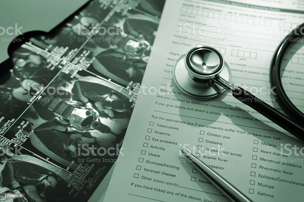 medical records series royalty-free stock photo
