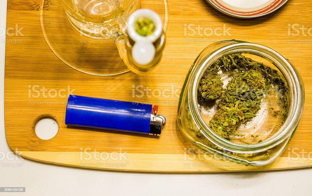 Medical Recreational THC Weed Smoking Colorado stock photo