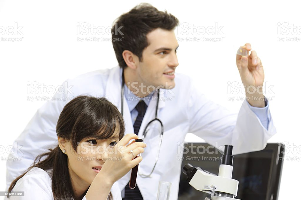 Medical research scientists royalty-free stock photo